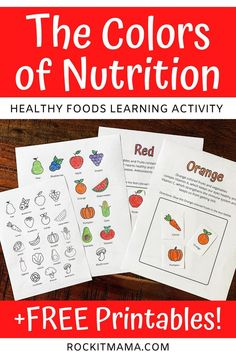 Teach kids the importance of nutrition with this printable learning activity! Healthy foods learning activity. Teaching kids about eating healthy. #homeschool #healthyeating #teachinghealthyeating #healthyeatinglearningactivity #healthyeatingactivity #nutrition #colorfuldiet #freeprintable #freelearningactivity #homeschoolprintables Preschool Learning Activities, Toddler Activities, Toddler Learning, Orange Colored Fruit, Where Do I Live, Help Teaching, Kids And Parenting, Parenting Ideas, Educational Activities