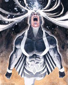 Black Bolt by Jeff Dekal #blackbolt #watercolor #mixedmedia