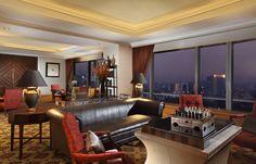 The Clube Lounge at The Ritz-Carlton Jakarta, Mega Kuningan.