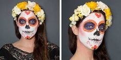 Αποτέλεσμα εικόνας για diy flowers for sugar skull costume