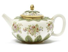 A Meissen Hausmaler teapot and cover, the porcelain circa 1720, probably decorated in Bayreuth, circa 1740