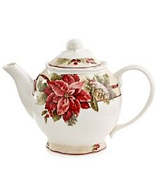 222 Fifth Yuletide Celebration Collection Teapot & Lid