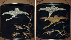 Case (Inrō) with Design of Geese and Reeds | Japan | Edo period (1615–1868) | The Met