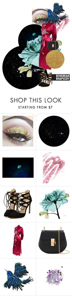 """""""🌌Glitter night🌌"""" by olga-highball on Polyvore featuring мода, Obsessive Compulsive Cosmetics, Chloé, Katherine's Collection и The Gypsy Shrine"""