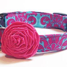 Dog collar flower Dog Flower Dog accessories by ElegancebyElesha