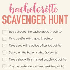 Free Download: Bachelorette Scavenger Hunt