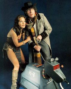 This is the group I think of when I think of the 4th Doctor:  Leela (Louise Jamison), 4th Doctor (Tom Baker) & K-9