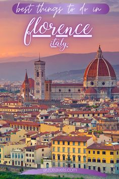 Check out this Florence itinerary to find out about the best things to do in Florence,Italy. This stunning city is one of the best cities in the country and it has so much to offer. Here are the best things to do and see plus many travel tips for your Florence trip