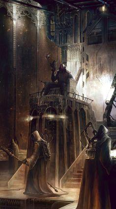 Faeit 212: Warhammer 40k, art numérique. #digitalart #warhammer #scene