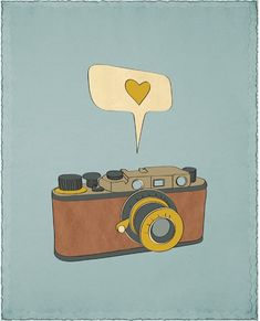 "Camera Print Art / Poster ""POINT AND CLICK"" 8x10 Photography Art of Vintage Camera."