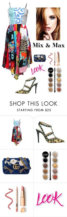 """""""Mix & Match Trend"""" by kotnourka ❤ liked on Polyvore featuring Valentino, Gucci, Giorgio Armani and NYX"""