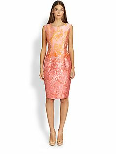 MaxMara Morris Floral Jacquard Dress