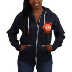 cd88a4ec menss chicago bears tailgater full zip hoodie navy blue