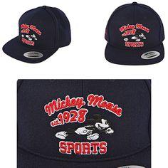 Mens Womens Feltics Original Disney Mickey Mouse 1928 Run Baseball Cap Hats  Navy df914089a3fc