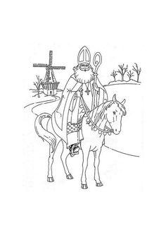 Kleurplaten, foto's en knutsels Sinterklaas op schoolplaten.com