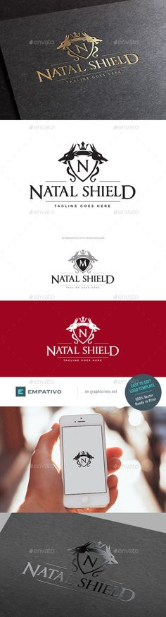 Natal Shield Logo Template #design #logotype Download: http://graphicriver.net/item/natal-shield-logo-template/11179245?ref=ksioks