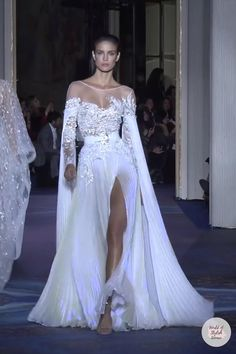Long Sleeve Bridal Dresses, Lace Wedding Dress With Sleeves, Bridal Gowns, Dresses With Sleeves, Elegant Dresses, Pretty Dresses, Beautiful Dresses, Formal Dresses, Zuhair Murad