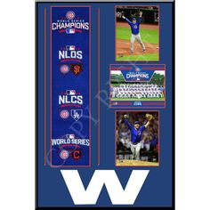 Chicago Cubs 2016 World Series Champions Team Collage  #ChicagoCubs #Cubs #FlyTheW #MLB