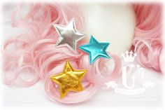 + Cici Everything is hand-made house + (<ゝ ω ·) Qiluo Star ~ ☆: lolita-pointed star shining bright hairpin - Taobao