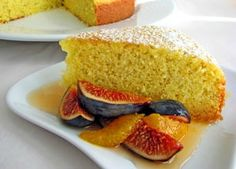 Olive Oil Cake with Fig and Orange Honey Compote from California Olive Ranch. California Olive Ranch, Delicious Desserts, Dessert Recipes, Dessert Ideas, Olive Oil Cake, Sweet Bread, Cupcake Cakes, Cupcakes, Food Inspiration
