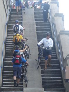 Simple, practical bike-friendly staircase. Visit the slowottawa.ca boards >> http://www.pinterest.com/slowottawa/boards/