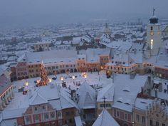 Winter wonderland in Sibiu, Romania Romania Tours, Sibiu Romania, Bucharest, Winter Wonderland, Paris Skyline, Country, City, Places, Travel