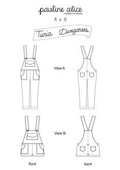 Turia dungarees | Supply | Patterns | Kollabora