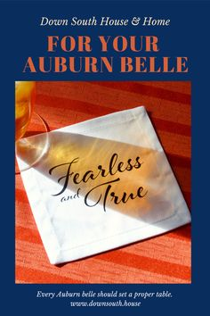 Every Auburn belle should set a proper table. We have coasters, napkins and tea towels. Southern Kitchen Decor, Southern Kitchens, Southern Homes, Southern Charm, Southern Belle, Dish Towels, Tea Towels, Auburn University, Southern Hospitality