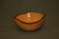 "Chinese elm natural edge bowl, No. 132, 6 1/4"" dia. x 3"" high, by GB Wood Specialties"