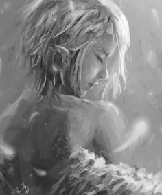solo5 by wlop.deviantart.com on @deviantART Digital painting by Chinese artist Wang Ling