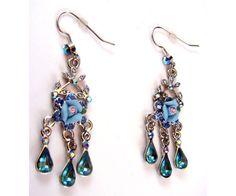 Flower Design Fish Hook Fashion Dangle Earrings $10.00
