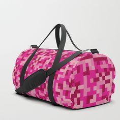 Duffle bag Pink Pixel Army. Leela (from Futurama) love this design! XD