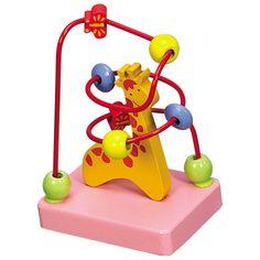 Dřevěné hračky -Motorické hračky-Motorický labyrint žirafa