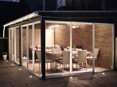 Outdoor Rooms, Outdoor Living, Outdoor Decor, Backyard Patio Designs, Backyard Landscaping, Porch Enclosures, Decks And Porches, Open Plan Living, Glass House