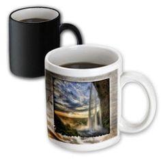 3dRose Waterfall at Sunset, Magic Transforming Mug, 11oz