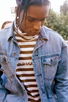 "celebritiesofcolor: ""ASAP Rocky for GUESS """