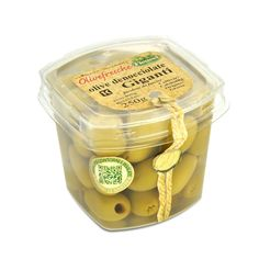 IT | OLIVE VERDI DENOCCIOLATE GIGANTI: sono senza dubbio le olive che meglio si prestano alla marinatura. sono particolarmente utilizzate negli aperitivi e negli antipasti.  EN | GREEN GIANT PITTED OLIVES: the most suitable olives to marinate or stuff. we sell them plain to enable customers to stuff them as they wish best. very common for appetizers and cocktail drinks.  http://www.ficacci.com/scheda.asp?id=330&idgamma=33