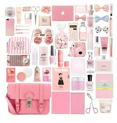 """""""Pink"""" by annaclaraalvez ❤ liked on Polyvore featuring moda, Grafea, H&M, Sara Happ, Crabtree & Evelyn, Christian Dior, Etude House, philosophy, OPI y Samsung"""