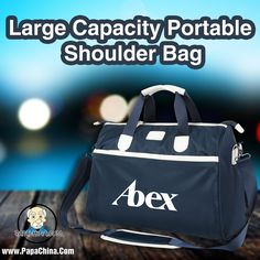 Large Capacity Portable Shoulder Bag, a very versatile product at its own best with a size of 43 x 18 x 30 cm, which is very much well facilitated with awesome features that includes cell phone pocket, handled, adjustable detachable shoulder strap, document bag, interior zipper pocket, computer pocket, camera pocket which will give your company some good marketing exposure with handful amount of facilities.