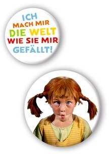 Pippi (Film) Buttons