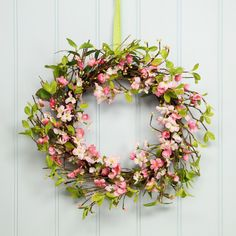 Pretty in Pink - Gisela Graham Cherry Blossom Wreath #Easter #Wreath #Decorations