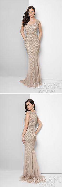 Style: 1623M1858 #sleevelessdress #beadeddress #mob #eveningdress #trumpetdress #terani #teranicouture