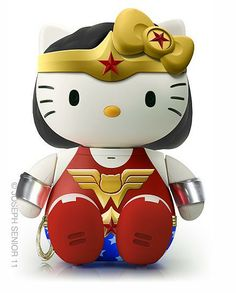 Wonder Woman Hello Kitty - 18 Pop Culture Hello Kitties That Need To Exist Bruce Timm, Wonder Woman, Hello Kitty Characters, Hello Kitty Collection, 3d Fantasy, Kawaii, Cultura Pop, Geek Chic, Sanrio