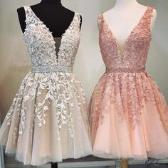Lace Homecoming Dresses, Hoco Dresses, Quinceanera Dresses, Pretty Dresses, Bridesmaid Dresses, Beaded Dresses, 1950s Dresses, Chiffon Dresses, Short Purple Dresses