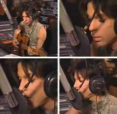 "Photo: ""Beautiful Strange"" recording session."