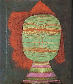 Paul Klee Actor's Mask 1924 - Reproduction Oil Paintings