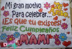 Pancarta de cumpleaños para mama
