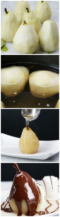 Rum Poached Pears