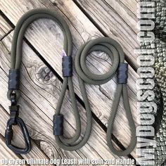 Ultimate Dog Leash with 20 inch 2nd Handle. Designed for the Big Dogs with Climbing Rope, Locking Carabiner, and Swivel. Handmade in USA. Veteran owned. Rope Dog Leash, Dog Hotel, Climbing Rope, Big Dogs, Handle, Usa, Rock Climbing Rope, Large Dogs, Door Knob