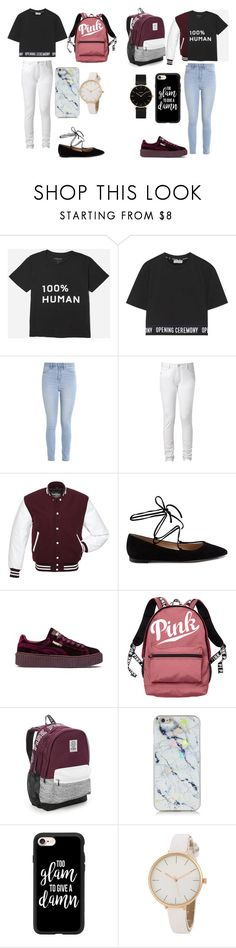 """S + M"" by caitlinkansil on Polyvore featuring Everlane, Opening Ceremony, Hollister Co., Gianvito Rossi, Puma, Victoria's Secret, Casetify and CLUSE"